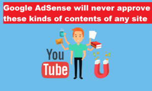 Google AdSense will never approve these kinds of contents of any site